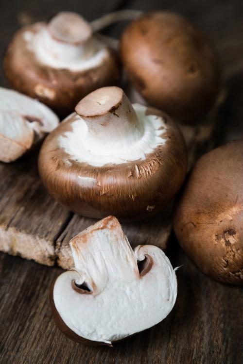 Fresh mushrooms. Royal champignons