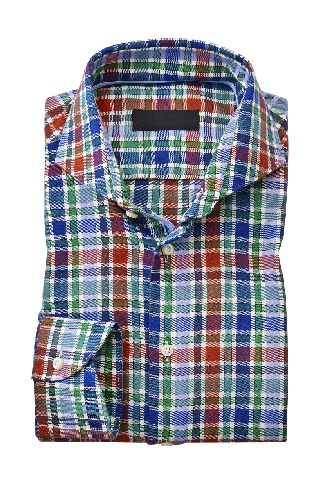 Multi color checked shirt gary 39 s for Red and green checked shirt