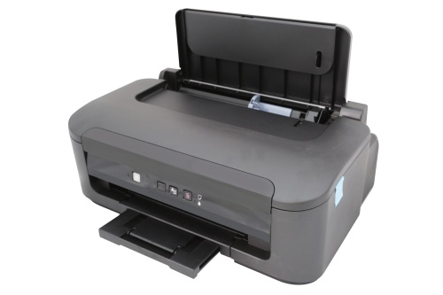 printer under the white background