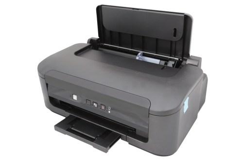 printer under the white background