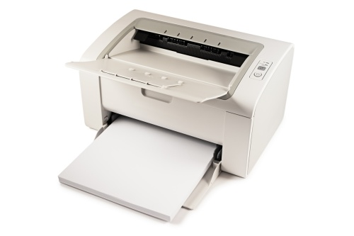 compact wireless monochrome laser printer is ready to print