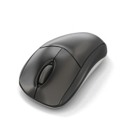Computer mouse isolated on white background. 3d illustration.