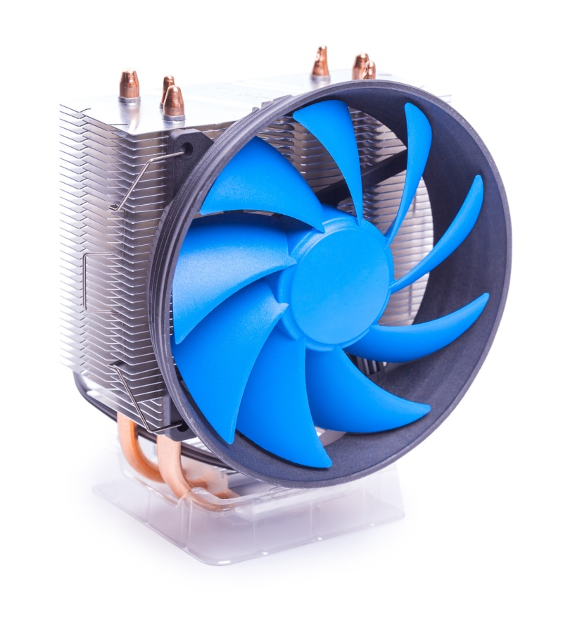 cpu cooler isolated on the white background