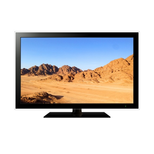 Modern TV with mountain landscape