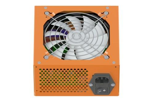 orange Power Supply Unit isolated on white background