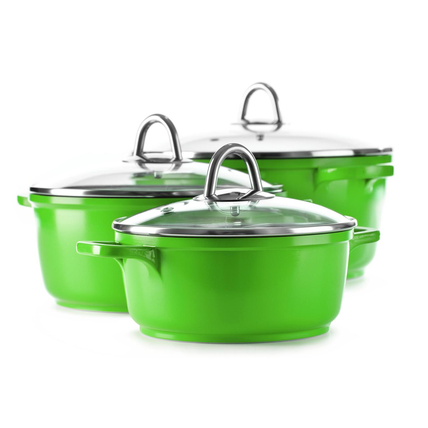 green cooking pots storefront. Black Bedroom Furniture Sets. Home Design Ideas